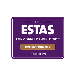 Regional award for Conveyancing excellence, ESTAS Awards 2017
