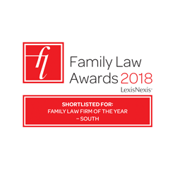 Finalist, 'Family Law Firm of the Year - South', Family Law Awards 2018